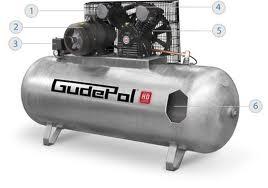 Tłokowy kompresor sprężonego powietrza GudePol HD 50/270-0