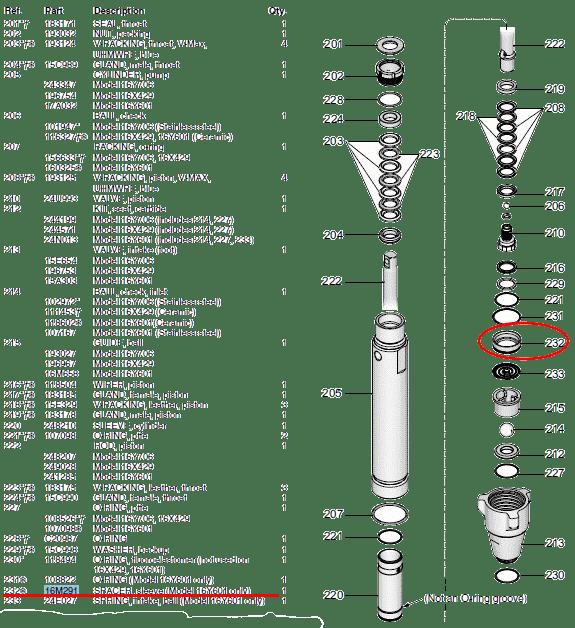Graco 16M291 Podkładka dystansowa dolnego zaworu MARK VII-0