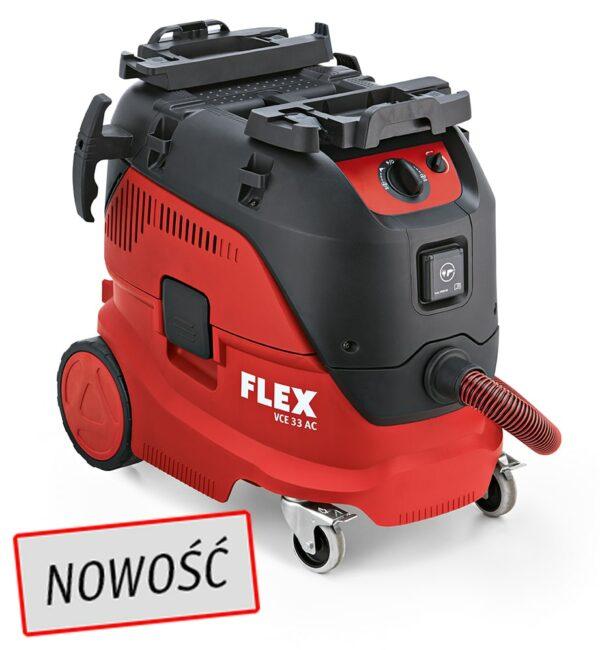 Flex 444.111, VCE 33 L AC 230/CE Odkurzacz z manualnym systemem czyszczenia filtra, 30l, Klasa L-0
