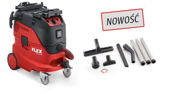 Flex 446.025 VCE 44 H AC KIT 230/CE z wyposażeniem Odkurzacz z autoatycznym systemem czyszczenia filtra, 42l, Klasa H-0