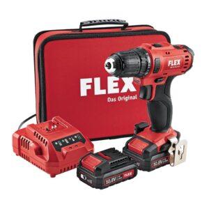 MEGA PROMOCJA! Flex 450.561 DD2G 10.8/2.5 2,5 Ah Wiertarko-wkrętarka 2-biegowa akumulatorowa w torbie-0
