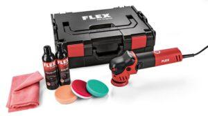 Flex 447.137 XFE 7-12 80 Set Mała polerka mimośrodowa 80mm 700Wat w komplecie z akcesoriami-0