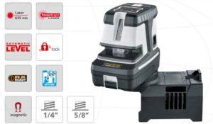 Laserliner 081.145-1A Laser krzyżowo-punktowy niwelator CrossDot-Laser 5P Plus z bazą magnetyczną 360°-0