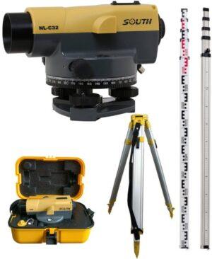 NL-C32 samopoziomujący niwelator optyczny SOUTH ±1.0mm/km powiększenie x32 + łata 5m i statyw 165cm-0