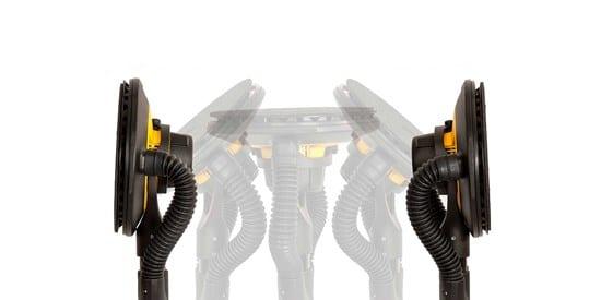 """SUPER PROMOCJA MIRKA !!! EXTRA ZESTAW !Zestaw narzędzi Mirka LEROS 950CV w torbie + DE1230L AFC do szlifowania Szlifierka """"żyrafa"""" do gładzi gipsowej fi225mm w torbie + odkurzacz z automatycznym otrzepywaniem filtra -37249"""