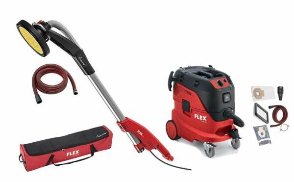 FLEX 494.550 + 444.146 GE7 MHX SH + S44 L AC Zestaw do szlifowania NOWA żyrafa + odkurzacz + GRATIS -44816