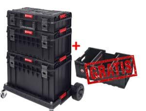 QBRICK SYSTEM ONE PROFI SET (Zestaw skrzynek narzędzowych, modułowych 3 elementowy + GRATIS BOX skrzynka, skrzynia-0