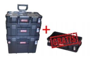 QBRICK TWO SET Zestaw skrzynek narzędzowych, modułowych 3 elementowy + GRATIS TWO BOX skrzynka, skrzynia-0