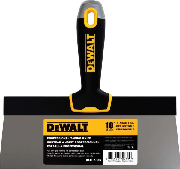 "DXTT 2-136 DeWALT Szpachelka Fasadowa uchwyt Soft Grip 10"" (25,4cm) -0"