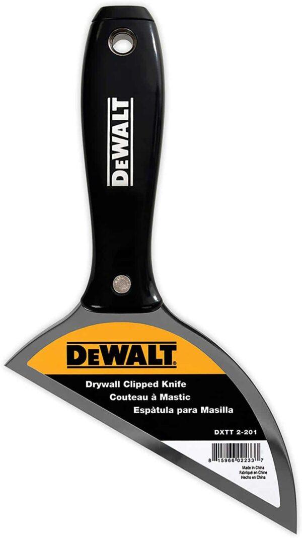 DXTT 2-201 DeWALT szpachelka do spoinowania płyt kartonowo gipsowych stal nierdzewna z uchwytem z czarnego nylonu-0