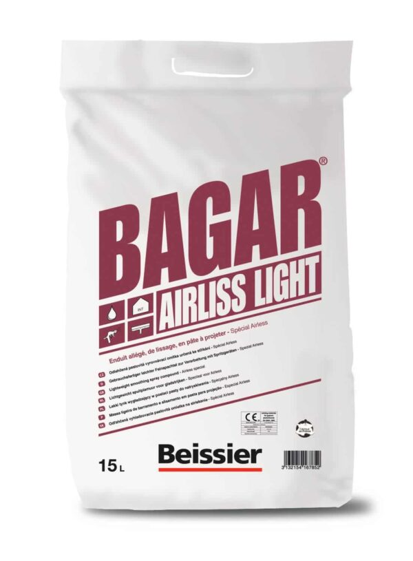 BEISSIER BAGAR AIRLISS LIGHT - WYRÓWNAWCZA MASA SZPACHLOWA NATRYSKOWA 15L 1PALETA (600L)-42718
