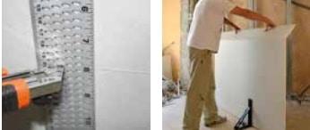 Edma Drywal Scoring Square Liniał do odcianani płyt kartonowo-gipsowych (163155)-43229