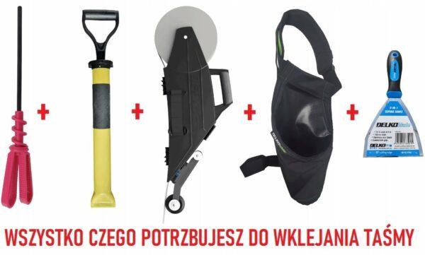 DELKO DT-PRO1 PRO PACK DELKO TOOLS Zestaw narzędzi DelkoTools dla profesjonalistów, zawiera wszystkie narzędzia, które usprawnią pracę przy suchej zabudowie.-43363