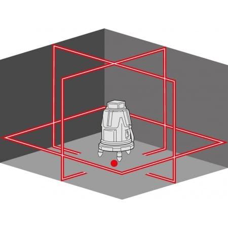 FLEX 458.600 ALC 8 Samopoziomujący laser liniowo-krzyżowy-45224