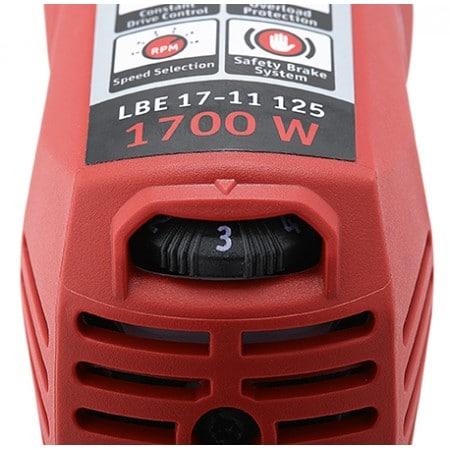 Flex 447.668 LBE 17-11 125 1700 watowa szlifierką kątowa z hamulcem i regulacja obrotów-45076