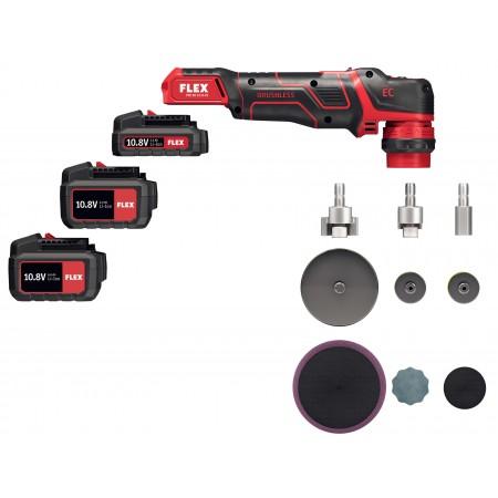 Flex 418.102 PXE 80 10,8-EC/2,5 SET Inteligentna polerka akumulatorowa 10,8V, głowica mimośrodowa i rotacyjna -45021