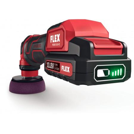 Flex 418.102 PXE 80 10,8-EC/2,5 SET Inteligentna polerka akumulatorowa 10,8V, głowica mimośrodowa i rotacyjna -45015