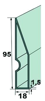 Słowik łata tynkarska trapezowa 250 cm (30251)-45505