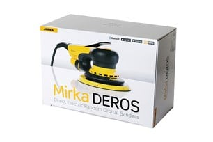 Zestaw Mirka Deros 680CV + DE1230 L AFC Szlifierka mimośrodowa 150mm + Odkurzacz z automatycznym otrzepywaniem filtra z wężem -45341
