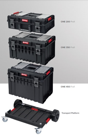 QBRICK SYSTEM ONE PROFI SET Zestaw skrzynek narzędzowych, modułowych 3 elementowy + platforma Z247494PG003-46044