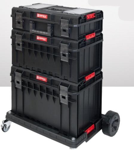 QBRICK SYSTEM ONE PROFI SET Zestaw skrzynek narzędzowych, modułowych 3 elementowy + platforma Z247494PG003-46042