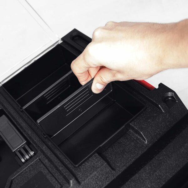 QBRICK SYSTEM ONE 350 PROFI skrzynia narzędziowa, modułowa do łączenia z innymi skrzynkami z serii One. SKRQ350PCZAPG001-46011