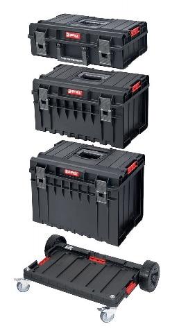 QBRICK SYSTEM ONE BASIC SET Zestaw skrzynek narzędzowych, modułowych 3 elementowy + platforma Z247487PG003-0