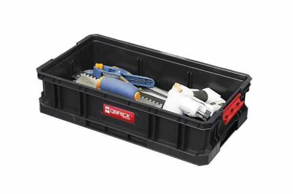 QBRICK SYSTEM TWO BOX 100 Modularny, wytrzymały Box do przenoszenia narzędzi SKRQBOXTWO1CZAPG001-46289