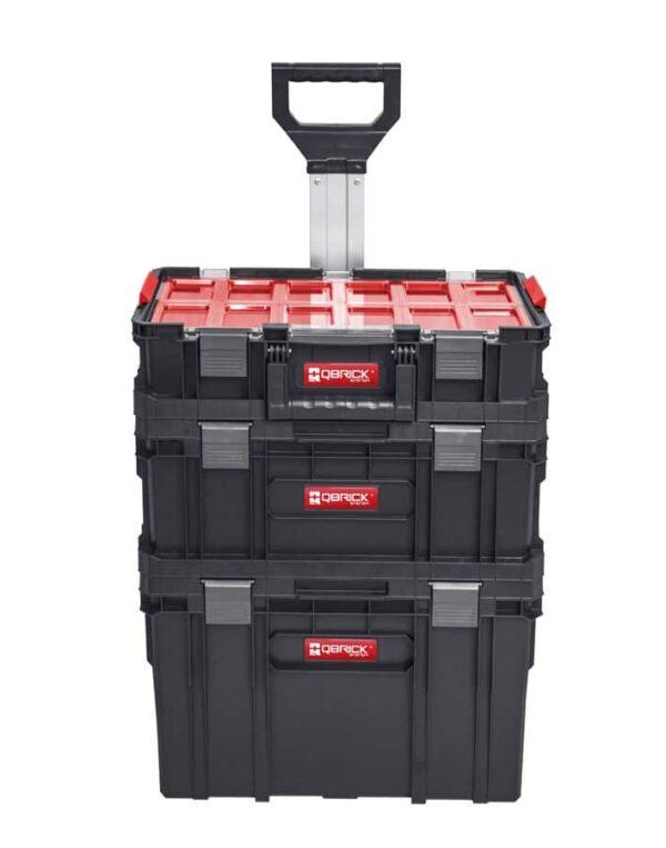 QBRICK SYSTEM TWO SET Plus Zestaw 3 elementowy skrzynie narzędziowe, modularne, wytrzymałe Z251248PG001-46278