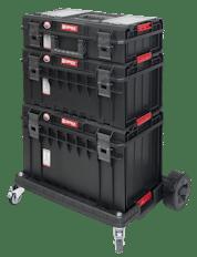 QBRICK SYSTEM ONE PROFI SET Zestaw skrzynek narzędzowych, modułowych 3 elementowy + platforma Z247494PG003-0