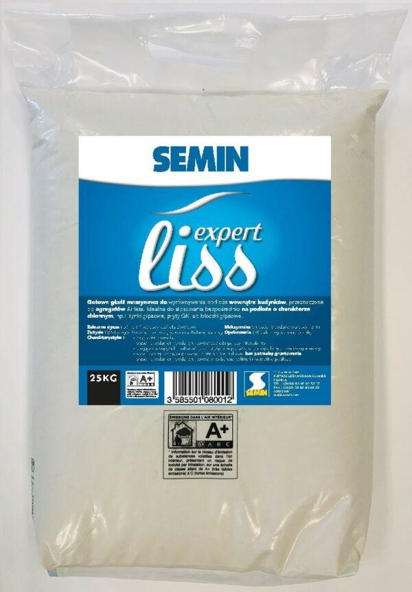 SEMIN EXPERT LISS Gotowa gładź szpachlowa do wnętrz 25 kg worek 1 paleta 44 szt-46783