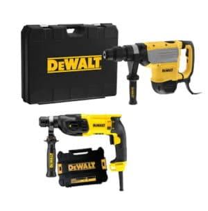 DEWALT Zestaw narzędzi młotowiertarka SDS-MAX z funkcją kucia 1600W, 48 mm, 9.5 kg, 13.3J + Młotowiertarka z udarem pneuatycznym SDS-Plus 26mm, 2,6J D25733K-QS +D25133K-QS-0
