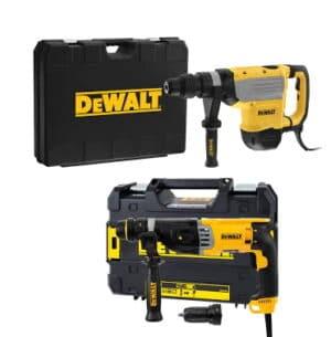 DEWALT Zestaw narzędzi młotowiertarka SDS-MAX z funkcją kucia 1600W, 48 mm, 9.5 kg, 13.3J + Młotowiertarka z udarem pneuatycznym SDS-Plus 26mm, 2,6J D25733K-QS +D25144K-QS-0