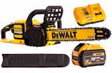 DeWALT Pilarka łańcuchowa akumulatorowa 18V/54V/3.0Ah z silnikiem bezszczotkowym, prowadnica i łańcuch 40cm Oregon, automatyczne olejenie, prędkość przesuwu łańcucha 15m/s DCM575X1-QW -0