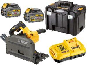 DEWALT Zagłębiarka akumulatorowa 165mm FLEXVOLT 18V/54V/6.0Ah głęb. cięcia: 55mm DCS520T2-QW-0