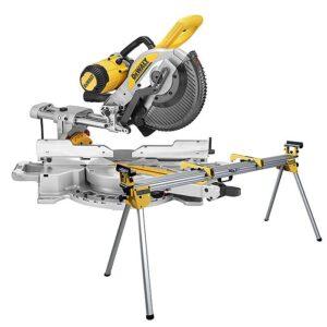 DEWALT Pilarka ukosowa, ukośnica 305mm z prowadnicami 1675W 3800 obr/min + Uniwersalne stanowisko robocze DWS780-QS + DE7033-XJ-0